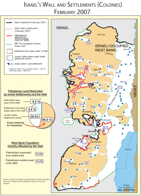 Maps Of Israel Palestine The Wall And Settlements Pamela J Olson - Maps of israel