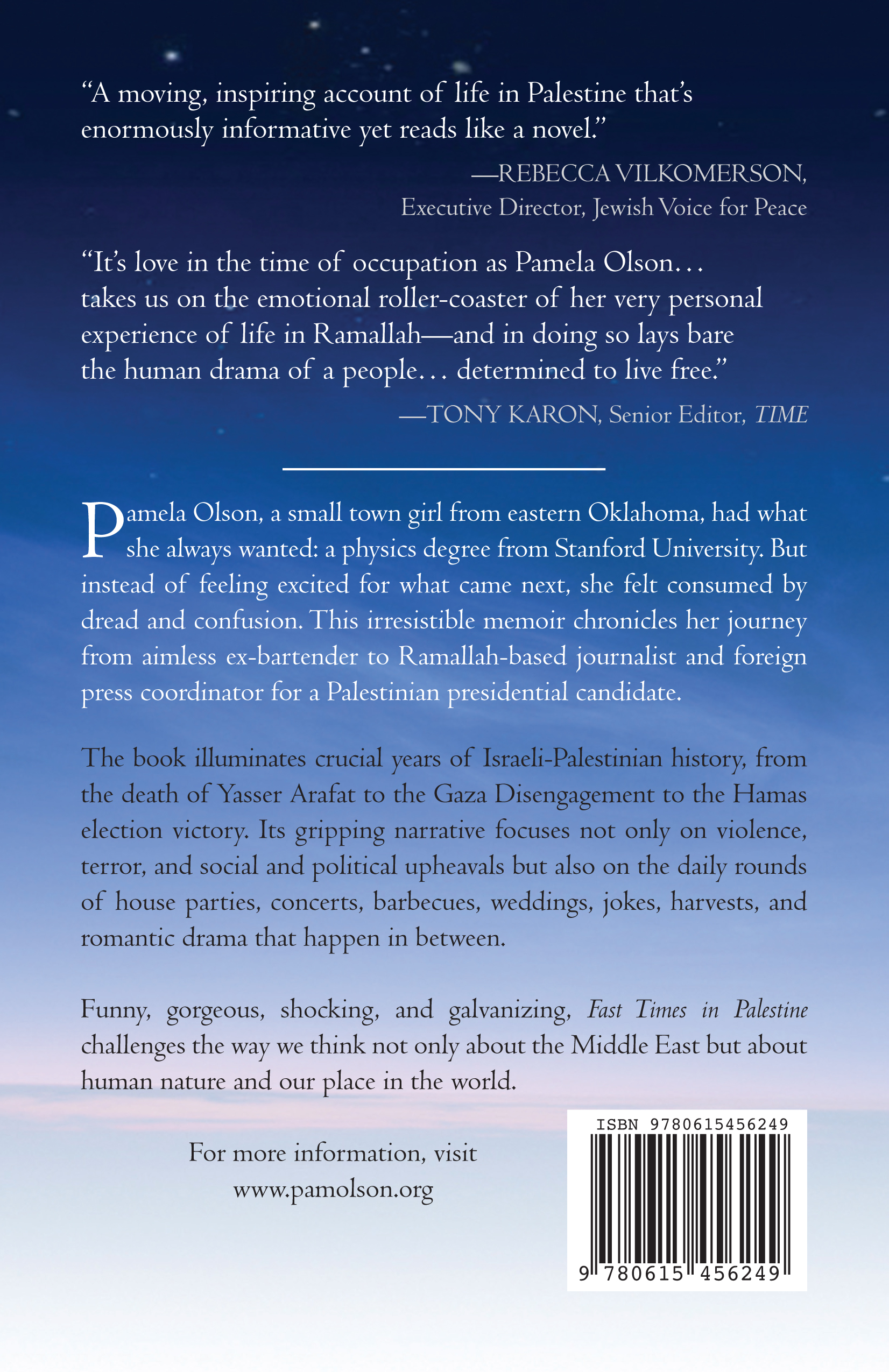 Back Cover And Spine Pamela J Olson