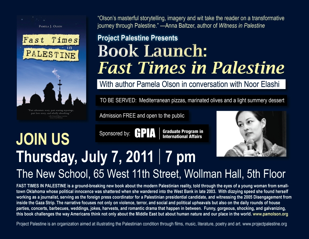 Fast Times in Palestine BOOK LAUNCH