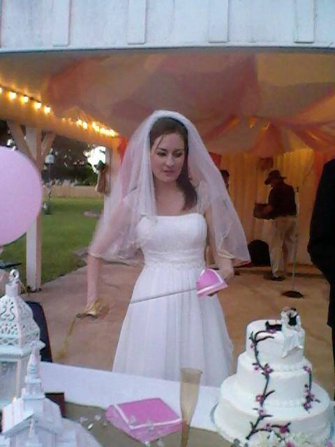 Wiping away the blood of my enemy... I mean the frosting of my wedding cake