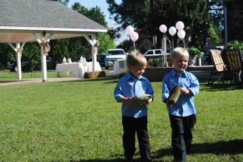 Ring bearers, my nephews Jack and Jake