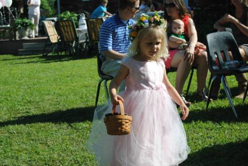 Sweet flower girl Iphy (my Matron of Honor Holly's little girl)