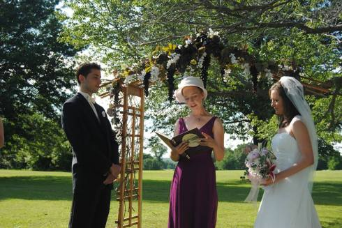Our lovely officiant Emily
