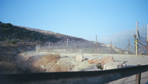 The Fence / Wall, just outside Jayyous, that isolates 75% of the village's land from its owners