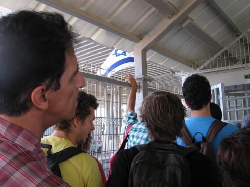 A picture from inside the new checkpoint terminal, from my visit in 2011. You feel like a head of human cattle in these cages and with the humiliating way people are treated.