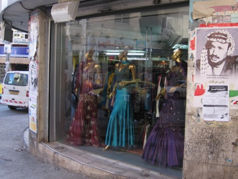 The Heliopolis Dress Shop in central Ramallah (with a young Arafat stealing a glance at the ladies)