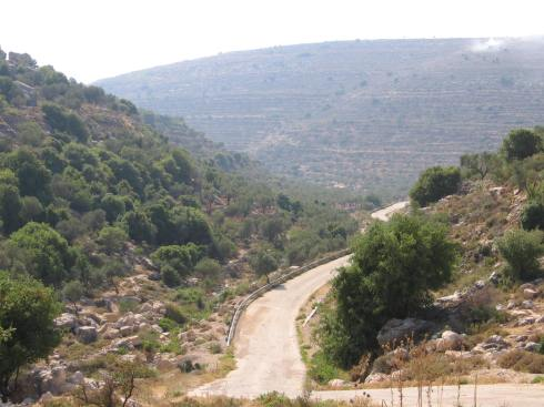 A valley road