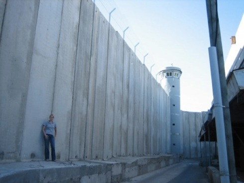 A friend of mine standing next to the Wall in the Jerusalem/Bethlehem area