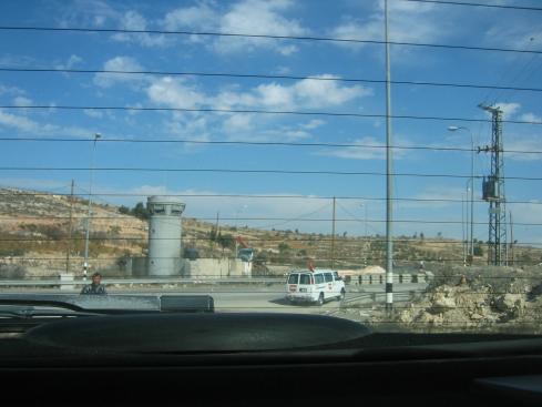 Sniper towers and checkpoints are littered throughout the West Bank, many put in place to protect illegal Israeli settlements built on expropriated Palestinian land.