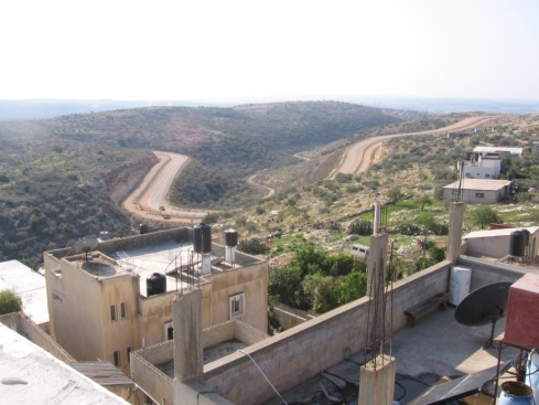 You can see how close the Wall comes to the village, even though the Green Line is four kilometers away