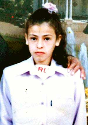 Iman al Hams, the little girl killed by the Israeli army sniper on her way to school on October 13, 2004