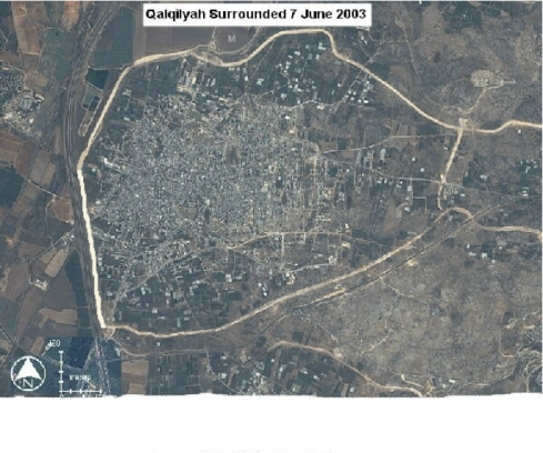 Aerial view of the surrounded city