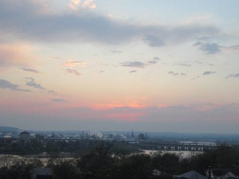 Sunset over the Arkansas River