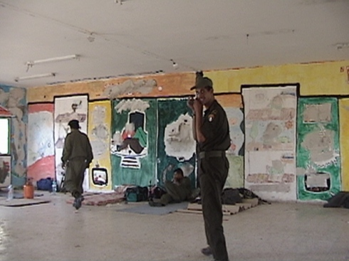 Abandoned Israeli settlement school